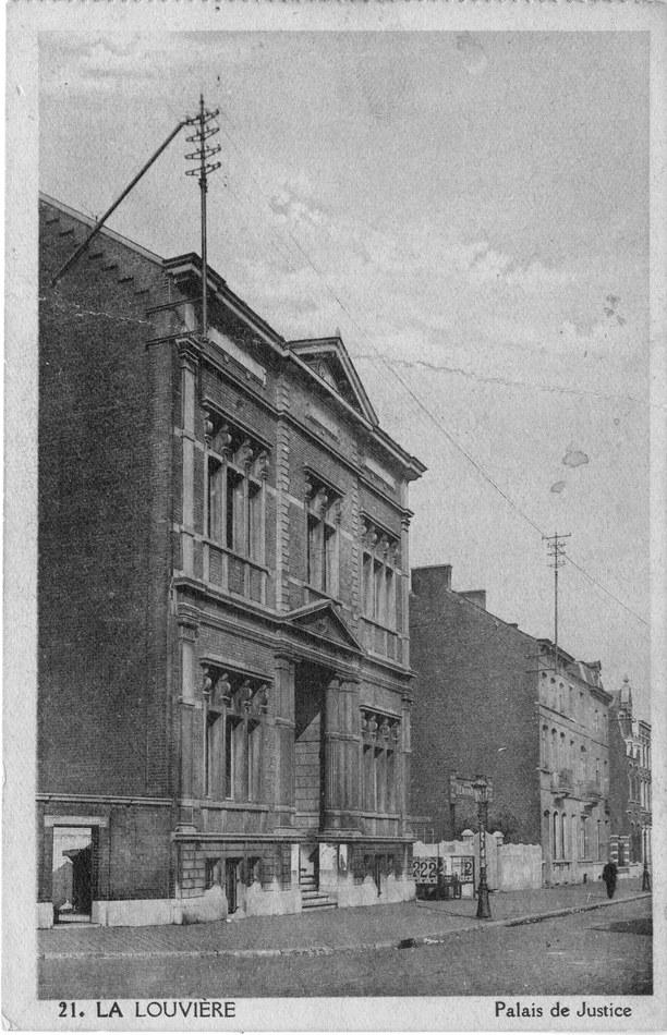 Palais de Justice 1900 Coll. Archives de la Ville et du CPAS de La Louvière