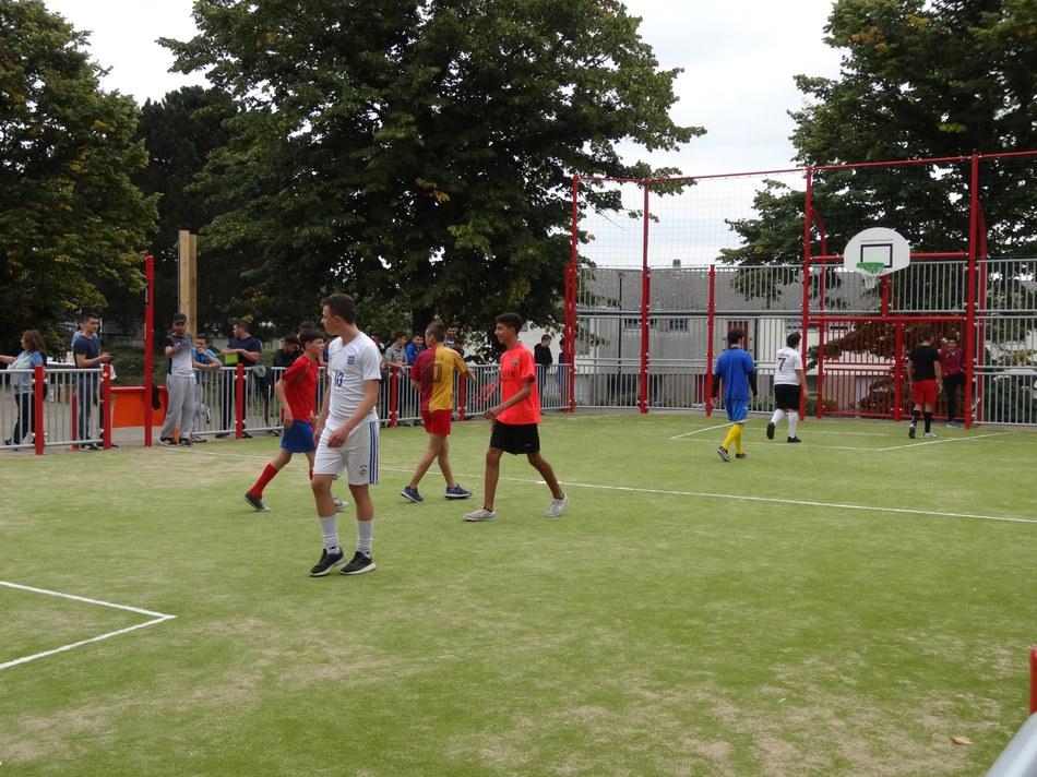 Inauguration du terrain multi sport à la Maison de Saint Vaast