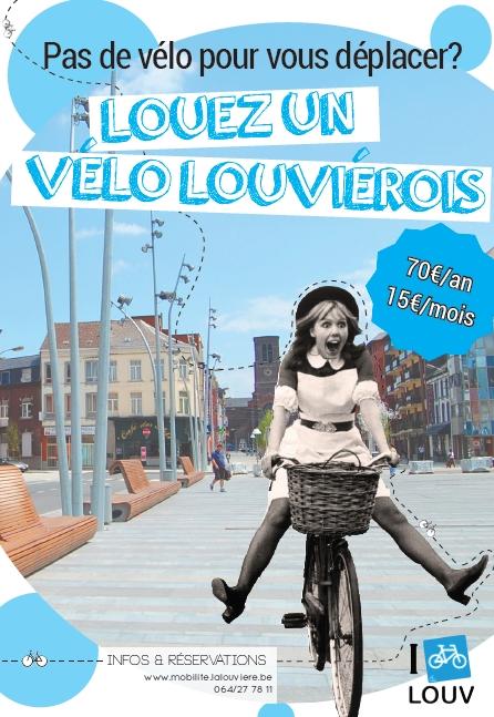 Louez un vélo louviérois affiche