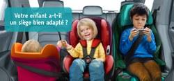 Votre enfant a-t-il un siège bien adapté ?